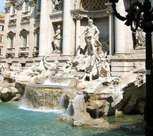 Rome, the Trevi fountain