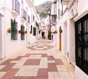 Cobbled streets in Mijas